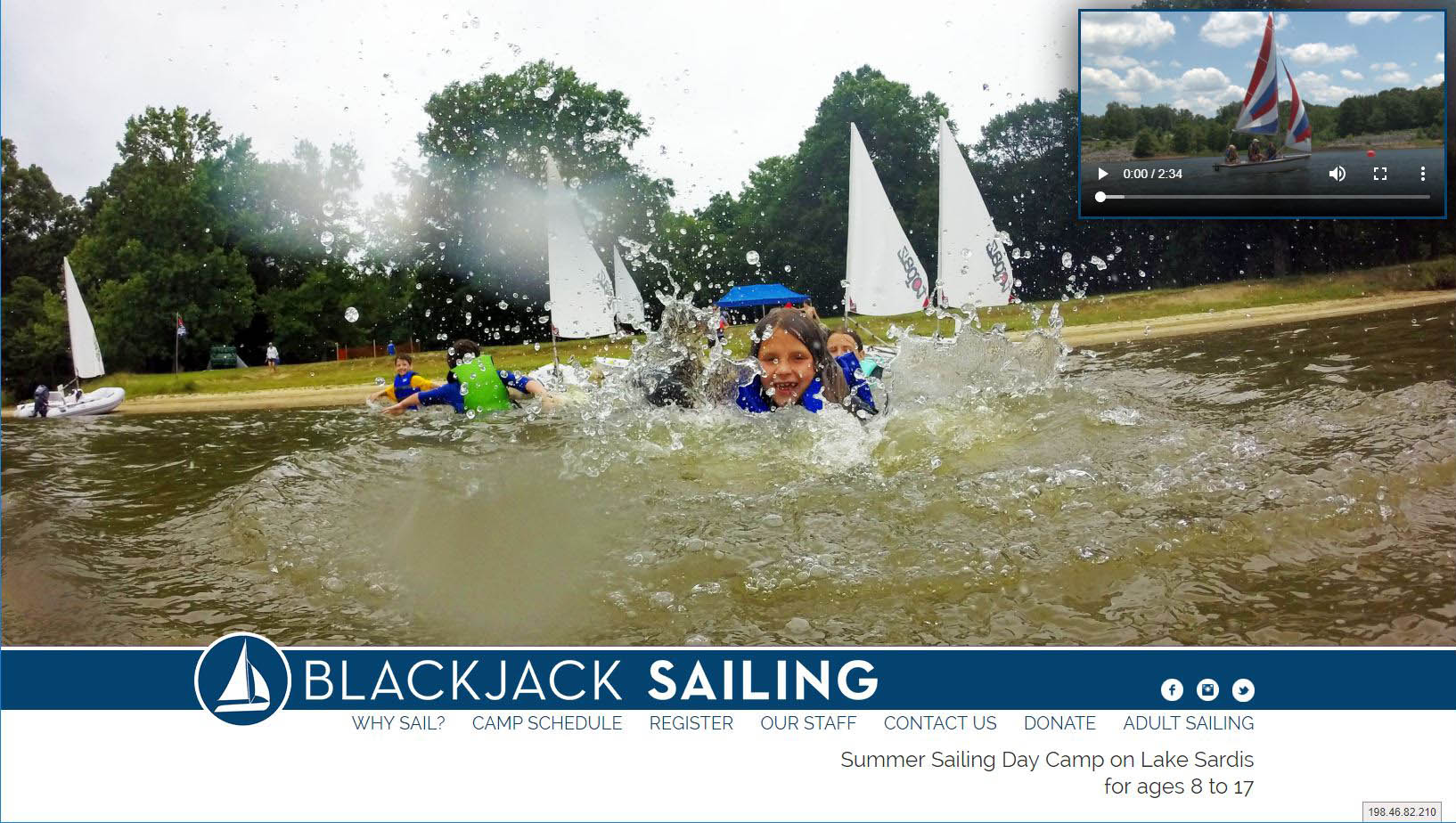 Blackjack Sailing  |  Summer sailing camp for kids