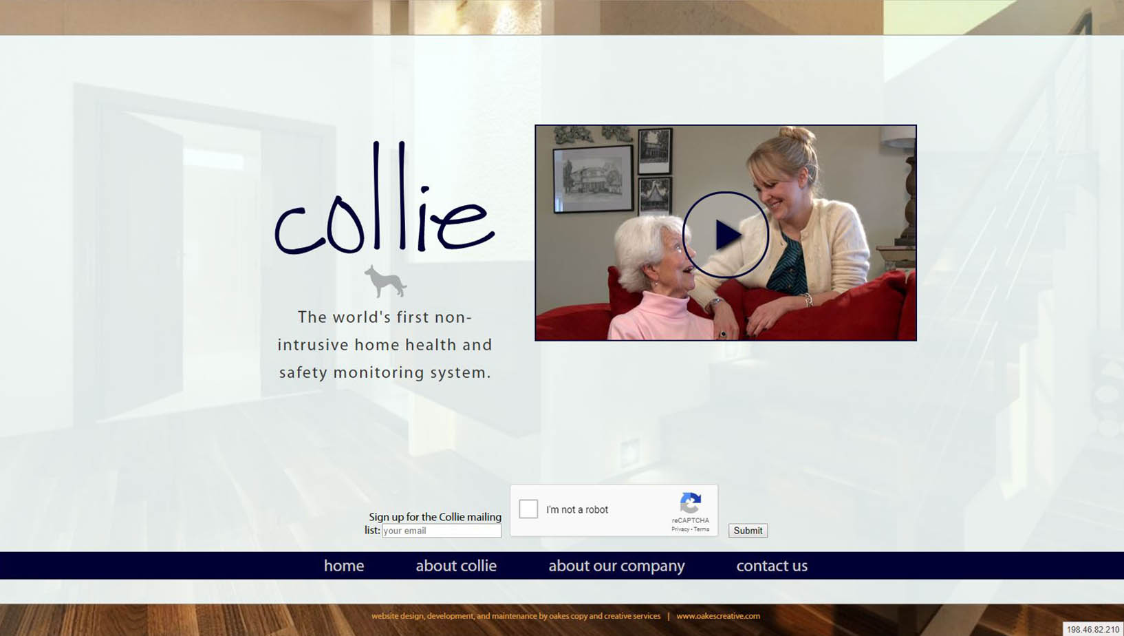 Collie Home Health  |  Informational site for a start up tech company